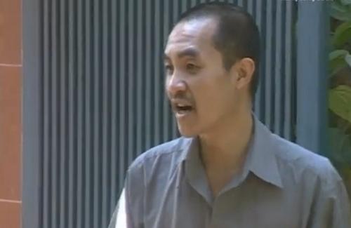 """Diễn Viên Quốc Quân trong một phân cảnh của tiểu phẩm """"Rể Hà Tiện""""."""