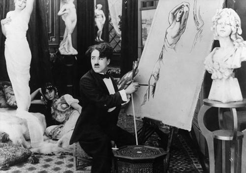 Chàng nghệ sĩ với nỗi thất tình đã phóng bút vẽ chân dung cô gái trên sàn phòng vệ sinh.