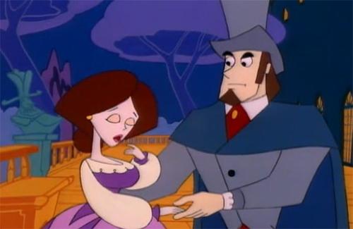 """Một phân cảnh trong phim hoạt hình """"Bá Tước Monte Cristo""""."""