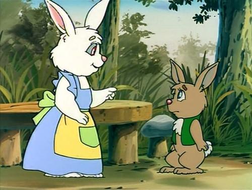 Một cảnh trong phim ''Happy, Chú Thỏ Tí Hon''