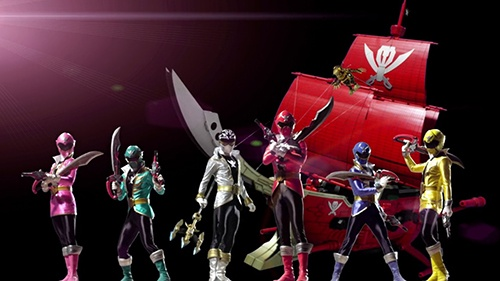 """Một phân cảnh trong phim hoạt hình """"Kaizoku Sentai Gokaiger""""."""
