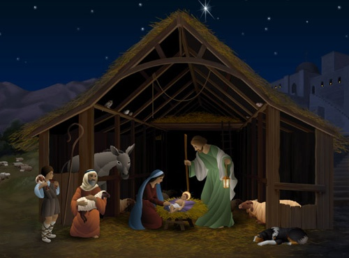 "Một cảnh trong phim hoạt hình "" Greatest Heroes And Legends Of The Bible: The Nativity"""