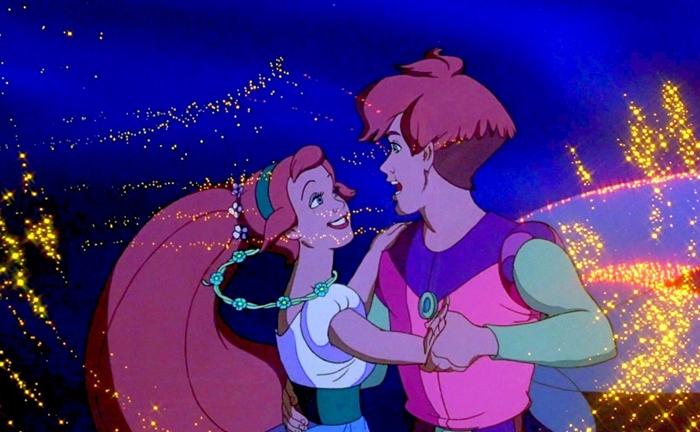 Một ngày nọ cô may mắn gặp được hoàng tử của mình trong phim 'Thumbelina'