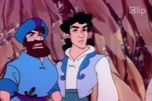 Sinbad cùng người hầu cận trong phim hoạt hình ''Sinbad''