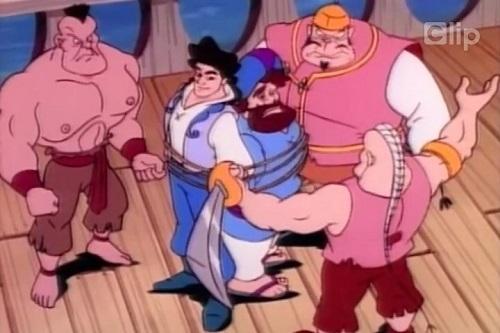 Một phân cảnh khác trong phim hoạt hình ''Sinbad''