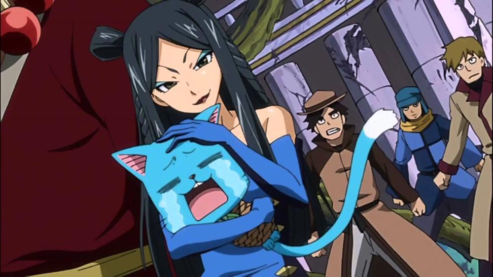 Một phân cảnh hài hước trong anime ''Fairy Tail''