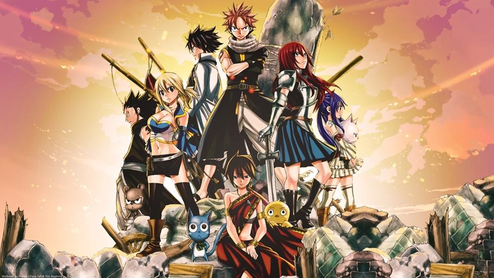 Các nhận vật chính trong bộ anime ''Fairy Tail''