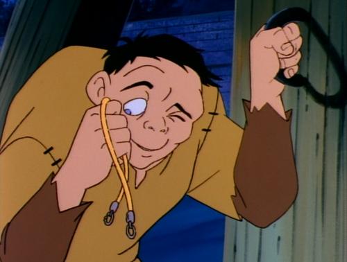 """Anh chàng gù Quasimodo trong phim """"The Hunchback of Notre Dame""""."""