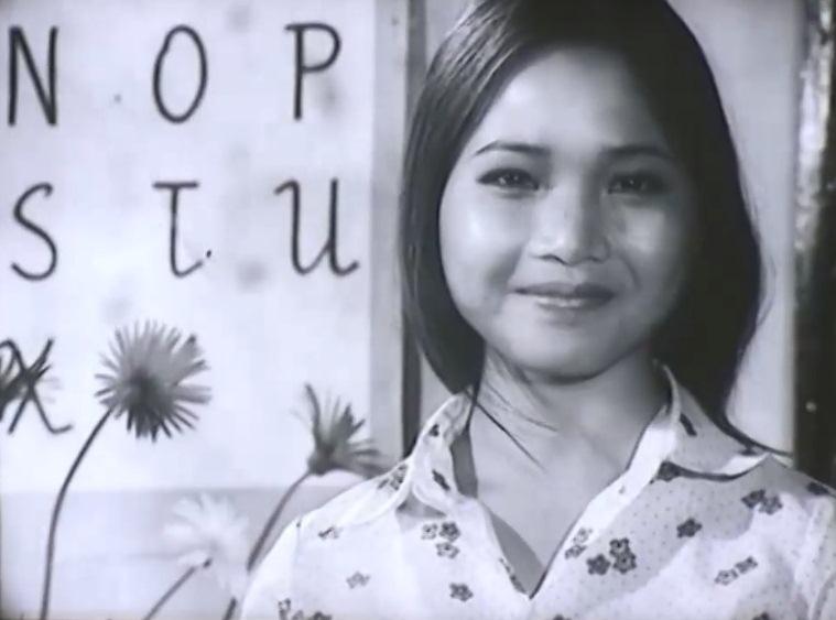 Nghệ sĩ Lê Vi thời trẻ tham gia vai cô giáo của cậu bé Minh