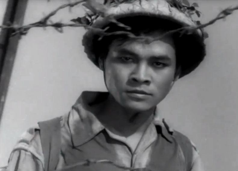 Nghệ sĩ Lâm Tới trong một cảnh phim