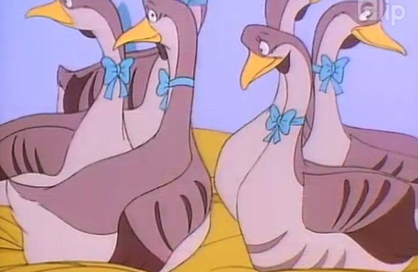 Đàn ngỗng điệu đà trong phim