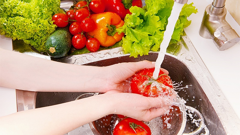 Cách rửa rau củ