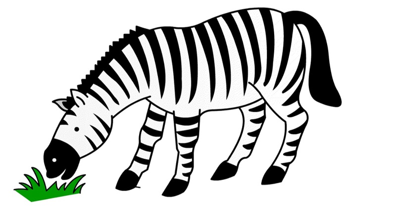 Vẽ chú ngựa gặm cỏ.