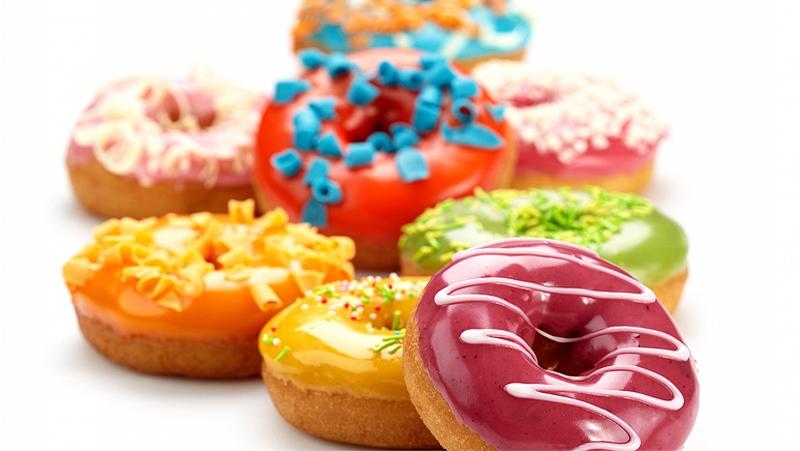 Bánh ngọt donut.