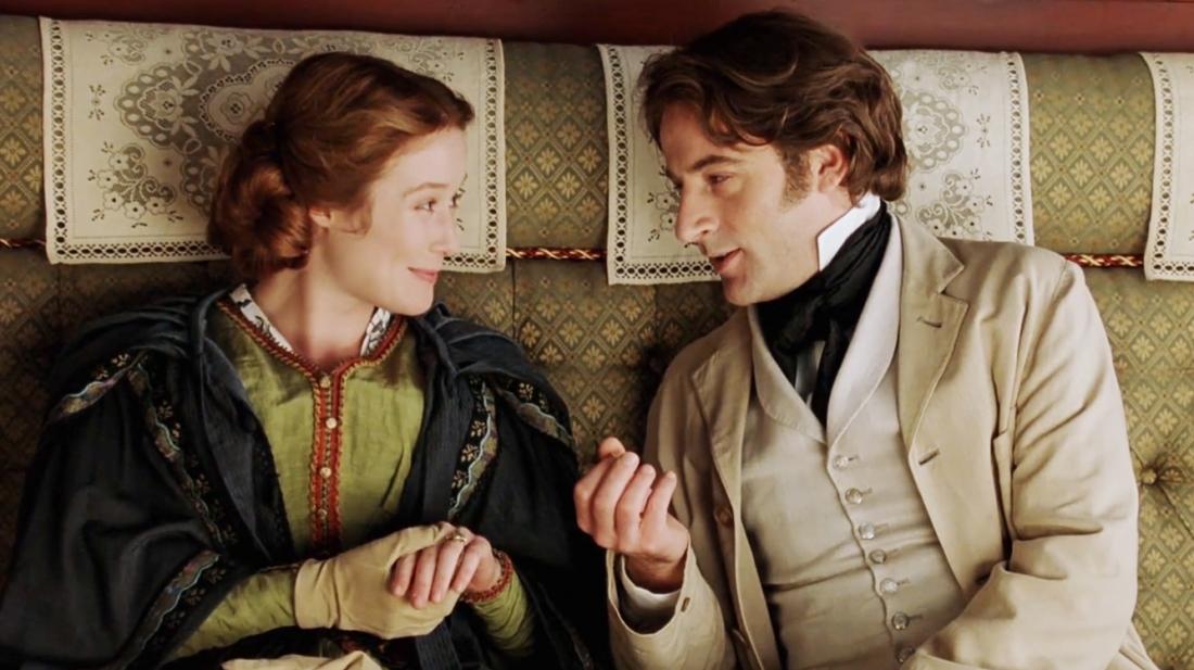 Christabel LaMotte bên  Randolph Henry Ash - nhà thơ nổi tiếng thời Nữ hoàng Victoria.