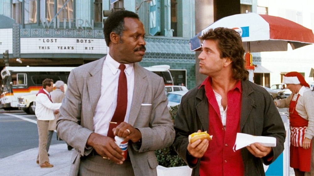 Một cảnh trong phim ''Lethal Weapon 3''.