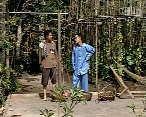 Một cảnh trong tiểu phẩm Cưới vợ cho thằng Bèo