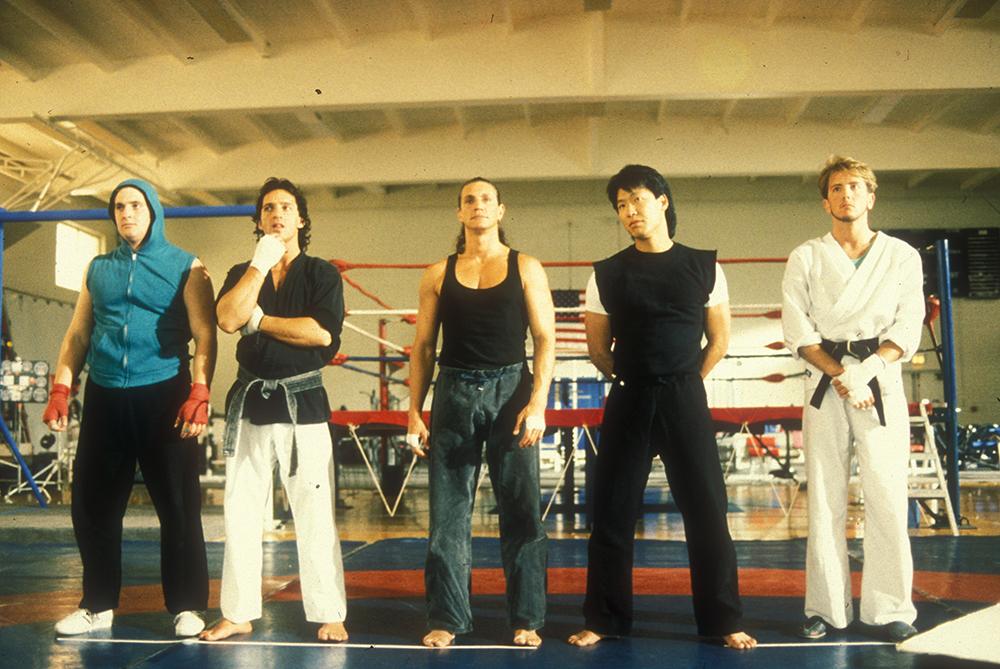 Năm thành viên của đội tuyển Karate Mỹ.