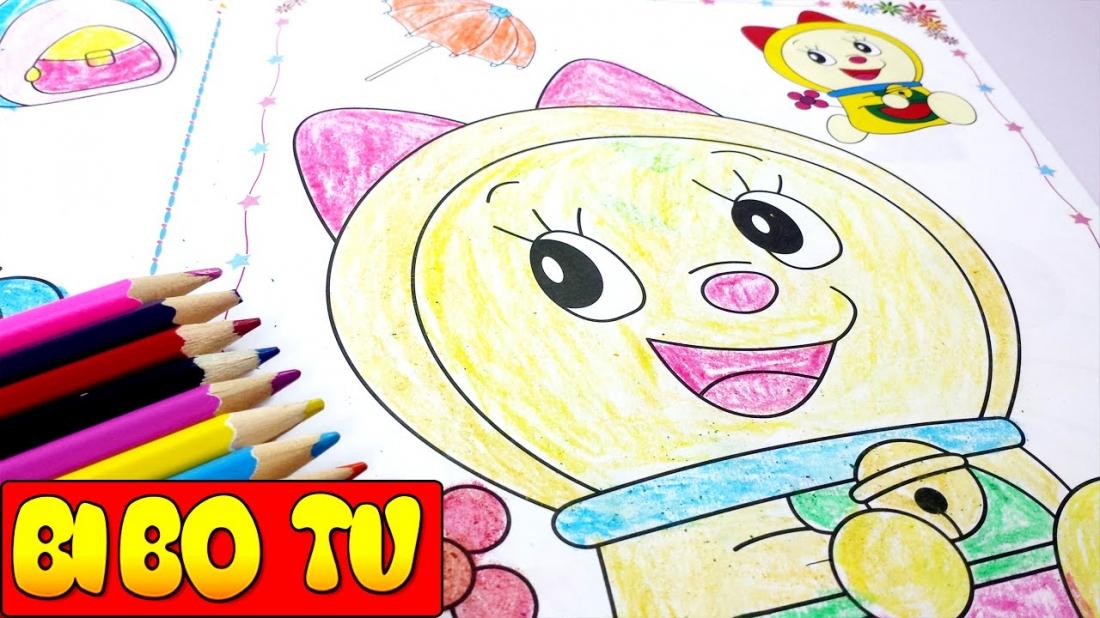 Vẽ tranh Doraemon