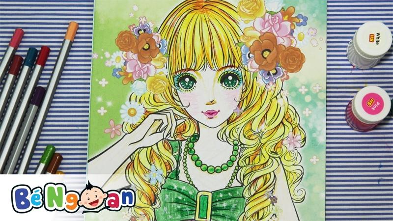 Tô màu công chúa sành điệu 3