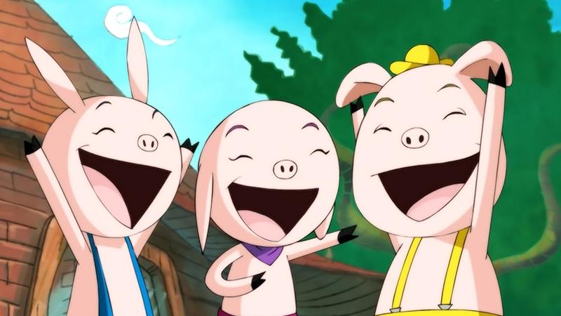 Một cảnh trong phim 'The Three Little Pigs'