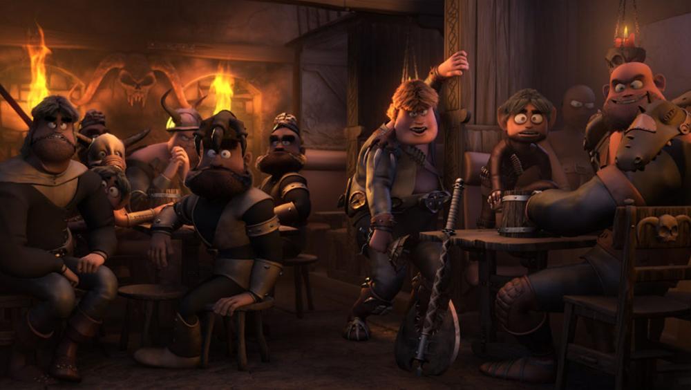 Một cảnh trong phim ''Ronal Barbaren''.