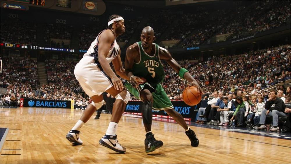 Một pha tranh bóng tại giải bóng rổ nhà nghề Mỹ NBA.