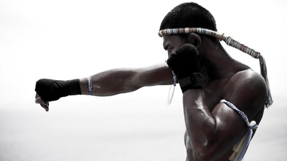 Võ sĩ kickboxing.