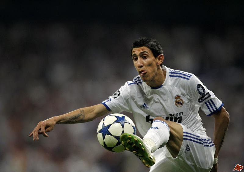Tiền vệ Angel di Maria thời còn khoác áo Real Madrid.