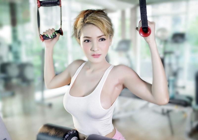 Vẻ đẹp sexy, khoẻ khoắn là điều mà gym có thể mang lại.