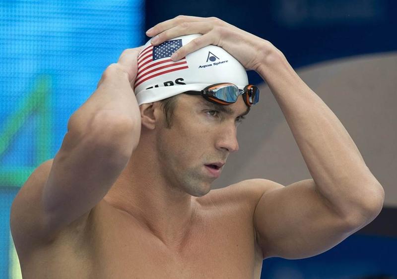 Kỷ lục gia bơi lội Michael Phelps.