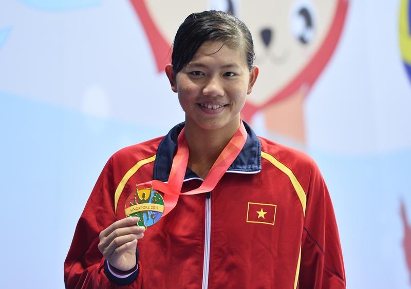VĐV bơi lội Nguyễn Thị Ánh Viên.