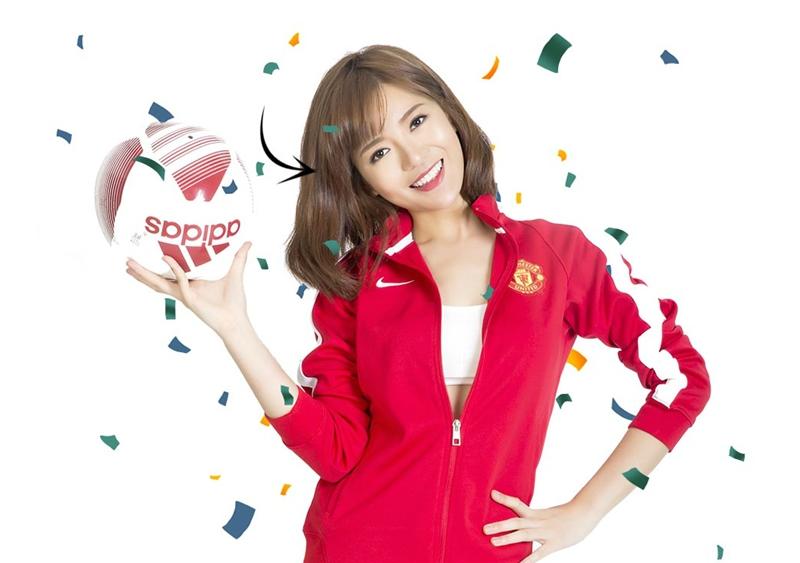 Tú Linh, CĐV nữ xinh đẹp của CLB Manchester United.