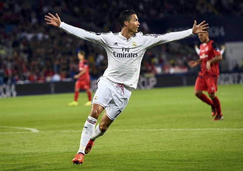 Niềm vui sau khi ghi bàn của Cristiano Ronaldo.