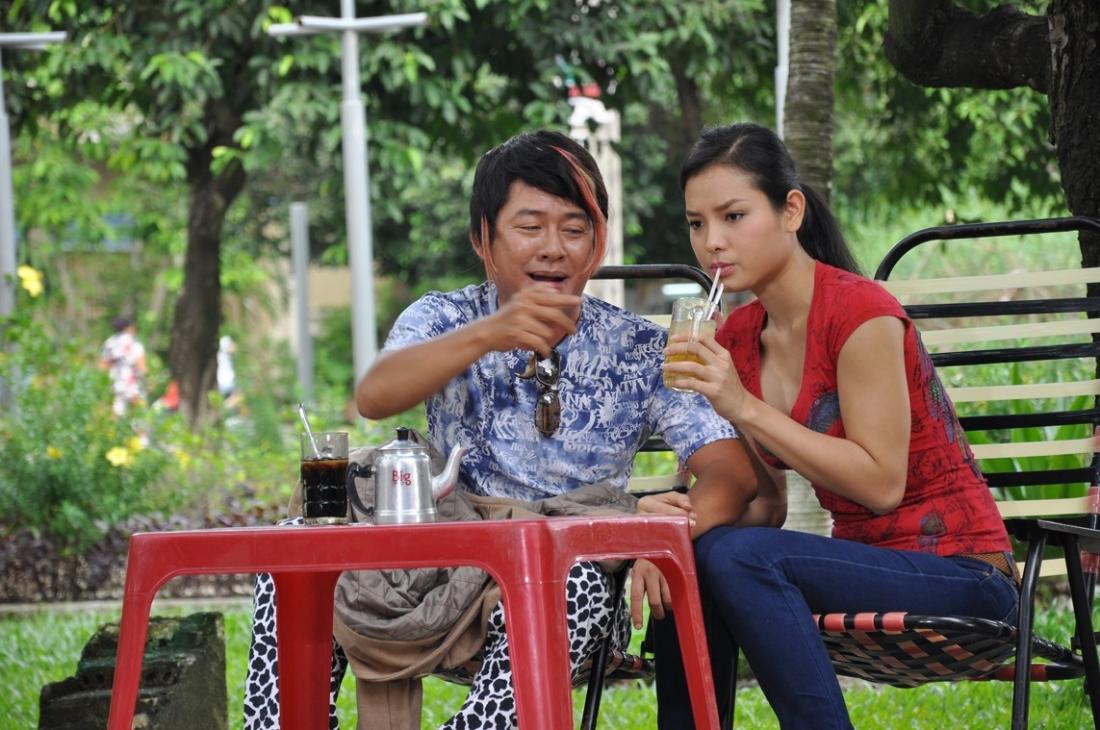 Diễn viên Tấn Beo, vai Châu Lợi Nhuận, trong một cảnh phim.