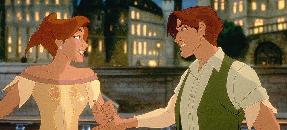 Công chúa Anastasia lưu lạc, sống dưới thân phận cô gái nghèo Anya và chàng trai tên Dimitri tốt bụng.