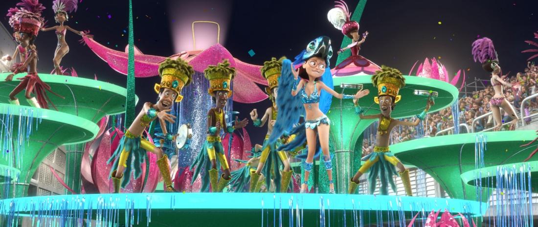Một cảnh sôi động trong phim hoạt hình ''Rio''.