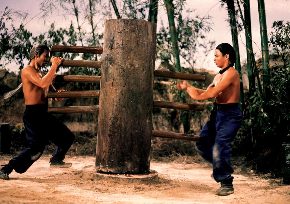 Hoàng Phi Hồng được sư phụ Lục A Thái truyền dạy võ công.