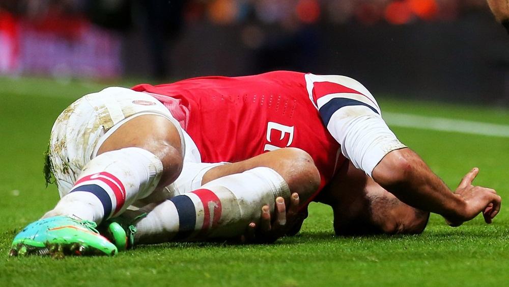 Tiền đạo Theo Walcott của Arsenal.