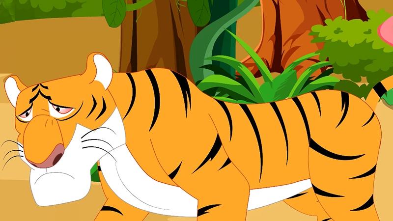Con hổ Sher Khan định bắt cậu bé con người.