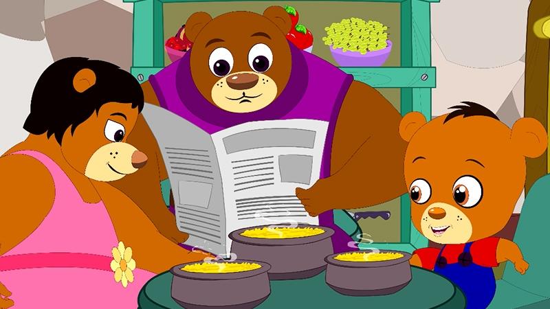 Gia đình gấu hạnh phúc.