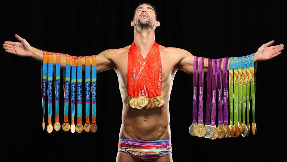 Huyền thoại bơi lội thế giới Michael Phelps.