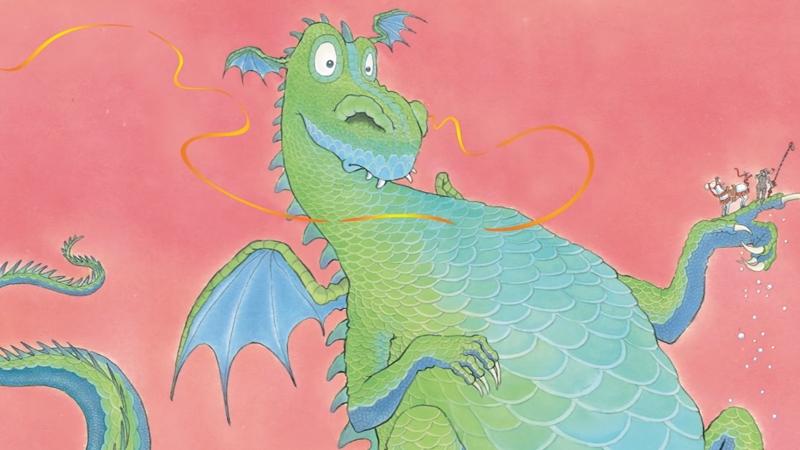 Nụ hôn hoàng gia bay vào mũi của chú rồng.
