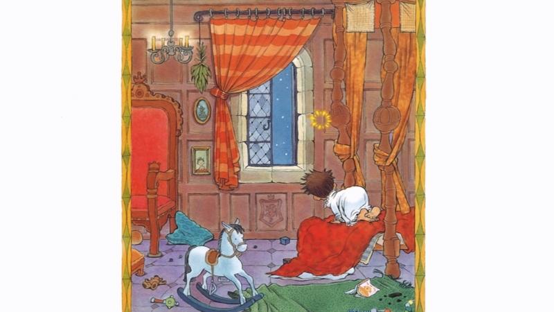 Nụ hôn của nhà vua vội quá nên bị trượt ra khỏi phòng của hoàng tử.