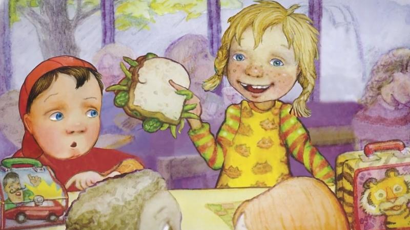 Ngày thứ Ba Carla mang chiếc bánh đi học.