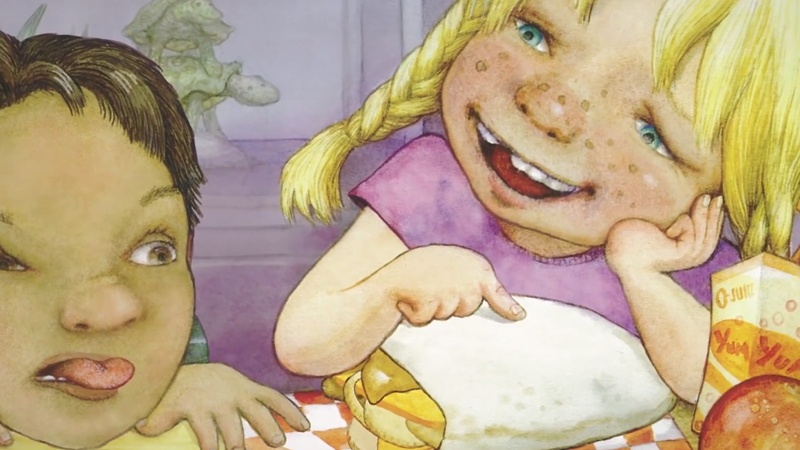 Ngày thứ Tư Carla mang chiếc bánh đi học.