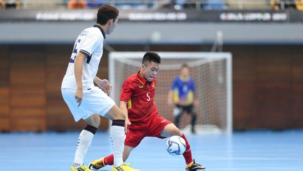 Đội tuyển futsal Việt Nam ở trận thắng đậm Philippines ở vòng bảng.