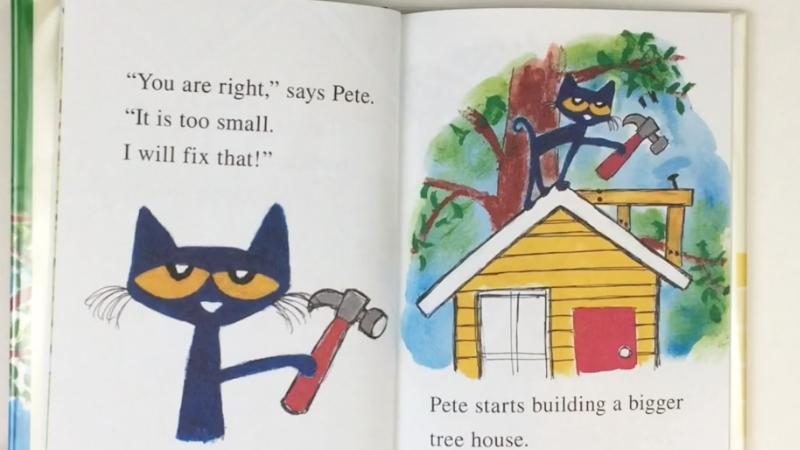 Mỗi bạn của mèo Pete giúp cậu sửa lại ngôi nhà sao cho hoàn hảo.
