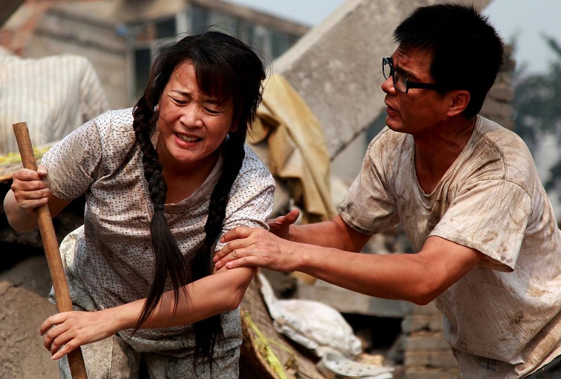 Bà Lý tìm kiếm hai đứa con sau trận động đất tại Đường Sơn năm 1976.