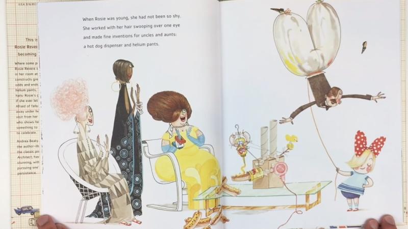 Rosie Revere chế tạo nhiều đồ vật giúp ích cho người lớn.